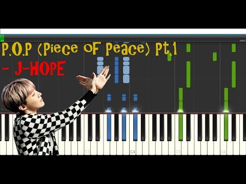 P.O.P (Piece Of Peace) Pt.1 - J-Hope|| Piano Synthesia Tutorial