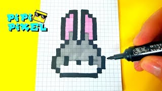 RABBIT KAWAII PIXEL ART HOW TO DRAW ! МИЛЕНЬКИЙ ЗАЙЧИК РИСУЕМ ПО КЛЕТОЧКАМ !Handmade Pixel Art