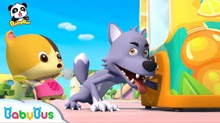 Why Bad Wolf Can't Get His Cola in Vending Machine? | Ice Cream, Cake Song | Learn Colors | BabyBus