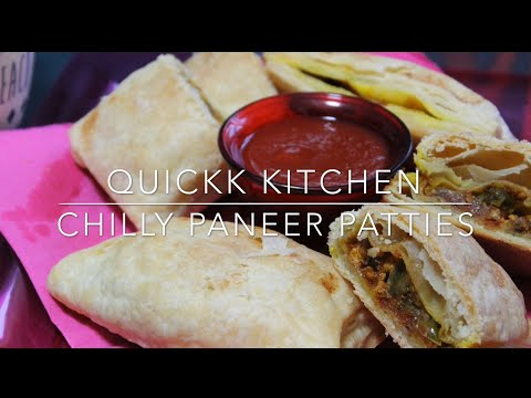 Chilly Paneer Patties | evening snack | crispy & flaky patty | street style puff patty