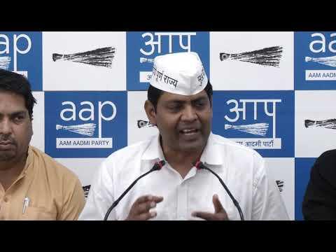 AAP New Delhi LS Candidate Brajesh Goyal Briefed Media on BJP Lies On Sealing