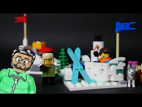 Vidéo LEGO Saisonnier 40424 : Bataille de boules de neige