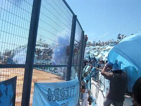 """Salida del dragon vs monjas"" Barra: Furia Celeste • Club: Deportes Iquique"
