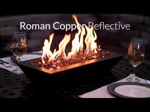 Roman Copper Reflective Fire Glass | Lakeview Outdoor Designs