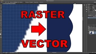 "How To Turn A Raster Into A Vector In Photoshop! ""How-To Tutorial"""