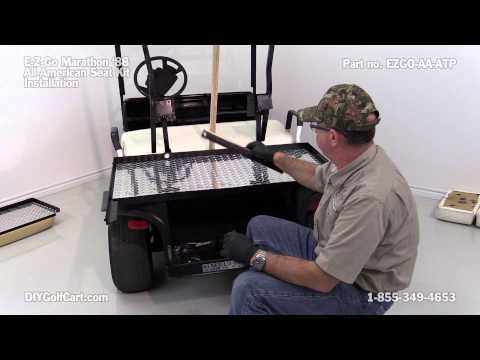 EZGO Marathon Rear Seat Kit - How to Install | DIY Golf Cart