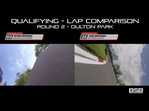 2019 Round 2 Oulton Park pole position lap comparison