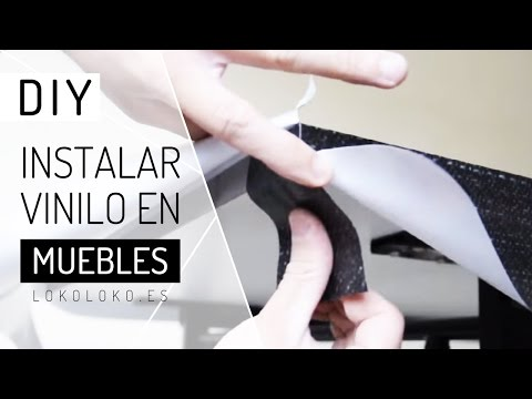 Lokoloko. Instalar vinilo para muebles / How to wrap home furniture with vinyl