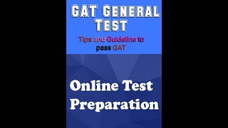 How to easily pass GAT General Test.Tips, Guidelines and preparation of GAT General.    Urdu lesson