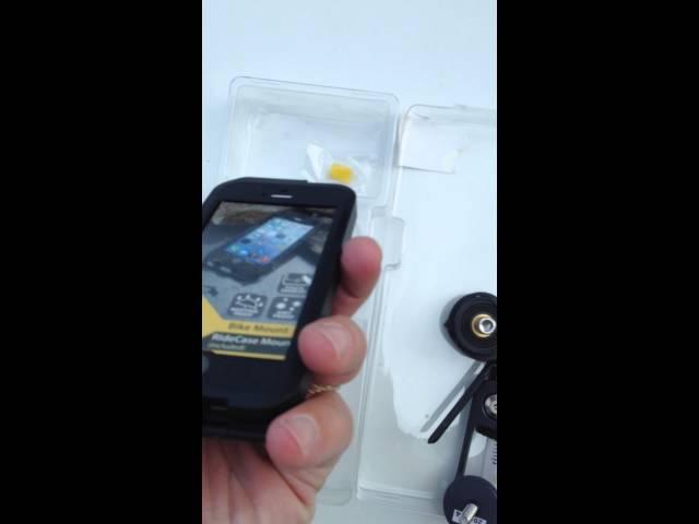 Видео Чехол с креплением Topeak Weatherproof RideCase iPhone 5 + RideCase Mount черно-серый