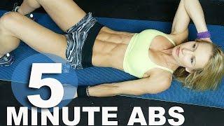 5 Minute Workout #32 - Abs by Zuzka Light