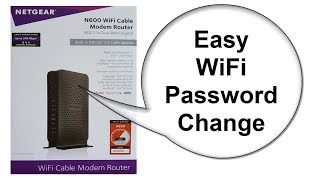 NETGEAR modem router Reset - N600 C3700 - How to Change Wifi Password - Beginners
