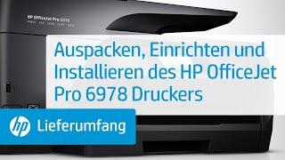Auspacken, Einrichten und Installieren des HP OfficeJet Pro 6978 Druckers