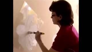 Hogyan fessünk virágmintát a falra?