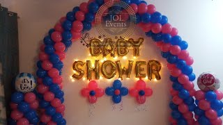 Simple Baby Shower Decoration At Home, Dohale Jevan Decoration