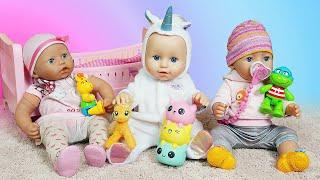 Spielspaß mit Baby Born Puppen. Annabelle bekommt Besuch von ihren Freunden.