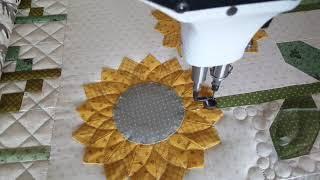 Machine Quilting On A Dresden Quilt Block By Natalia Boner