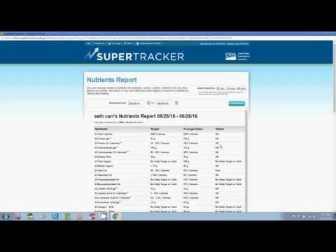 Supertracker Tutorial #4 - Nutrient Analysis