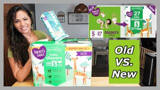 New Parent's Choice Diapers VS Old | Walmart Diaper Review. Are The New Diapers Good?
