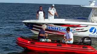Fish Mavericks getting towed in Jerry wants beer and gum