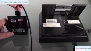 Plantronics CS540 wireless headset with Avaya 1416 Phone - How to install