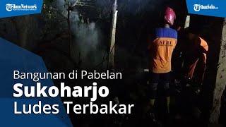 Bangunan Semi Permanen di Pabelan Sukoharjo Ludes Terbakar, Diduga Akibat Korsleting Listrik