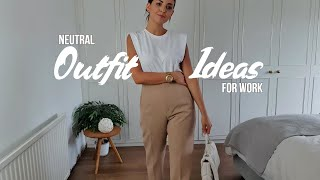 BACK TO WORK SUMMER OUTFIT IDEAS | NEUTRAL OUTFITS Ft ZARA, H&M & NEW LOOK | Simply Kyri