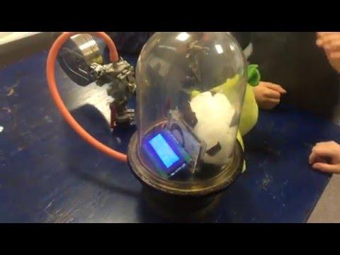Vakuum Kammer mit Arduino Druckmesser BMP180