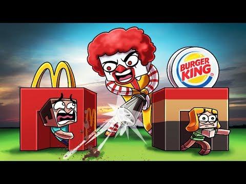 Minecraft | MCDONALD'S BASE CHALLNEGE! (Mcdonalds vs Burger King)