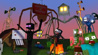Monster School : SIREN HEAD GIANT FAMILY  HORROR APOCALYPSE ATTACK  RIP WITHER - Minecraft Animation