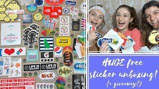 HUGE Laptop Sticker Unboxing & Haul! || Haley Rose Ft. Julia Kessler