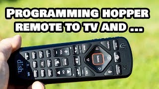 Program Your Dish Network Hopper Universal Remote to TV and Idea for Free 2nd TV!