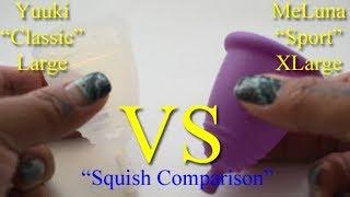 "Yuuki Classic Lg vs MeLuna Sport XL ""Squish"" - Menstrual Cups"