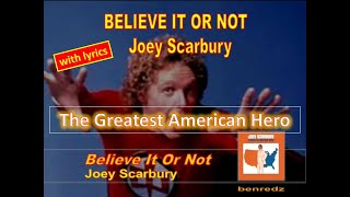Believe It Or Not by Joey Scarbury - with lyrics version