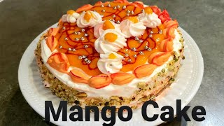 Fresh MANGO CAKE Recipe with Ambrosial Mango Filling | Easy  Recipie | Summer Special Dessert