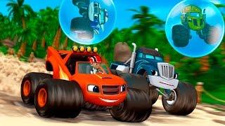 Мультики для детей - Гонка на помощь. Игровой мультфильм про машинки.