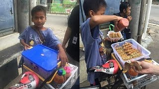 Viral Bocah Usia 12 Tahun Jualan Cilok untuk Biaya Hidup, Pernah Diserempet Mobil Diminta Ganti Rugi