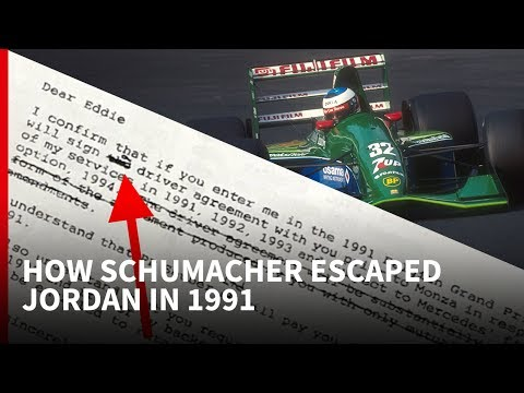 How Schumacher escaped Jordan in 1991