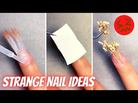 Strange Nail Ideas Compilation  Idees Creatives Hallucinantes