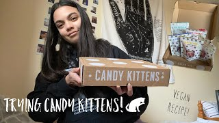 TRYING CANDY KITTENS VEGAN SWEETS! (REVIEW)