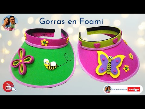 Gorra, visera en foami para niñas y niños - foam hat for girls and boys