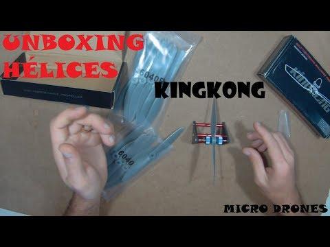 Unboxing Hélices KingKong 5045 e 6040 | Banggood