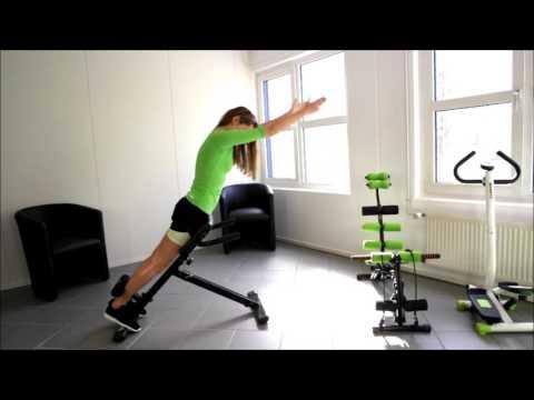 MAXOfit® Heimtrainer Multi-Rückentrainer MF-12, klappbar