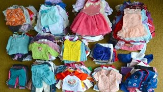 All my American Girl Doll Outfits! HD WATCH IN HD!