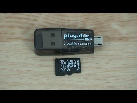 Plugable USB2-OTGTF Phone | Laptop | Tablet MicroSD Card Reader (Micro USB OTG)