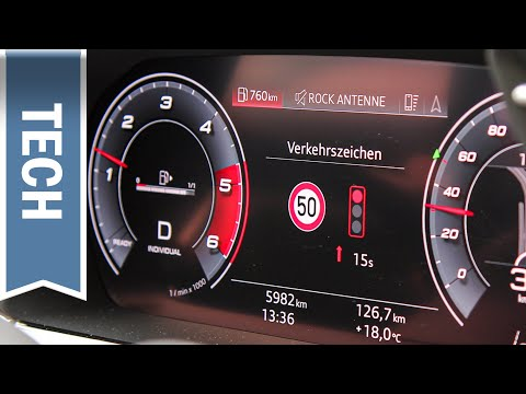 Ampelinformation / Time-to-Green im neuen Audi A3 2020 im Test: Assistenz & Countdown zur Grünphase