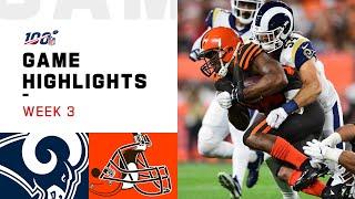 Rams vs. Browns Week 3 Highlights | NFL 2019