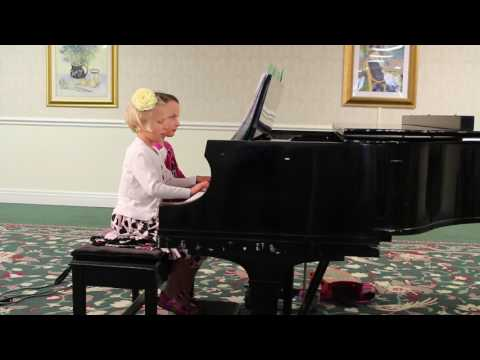 Piano Studio Recital on 06/09/2017 Ruthie and Maggie playing