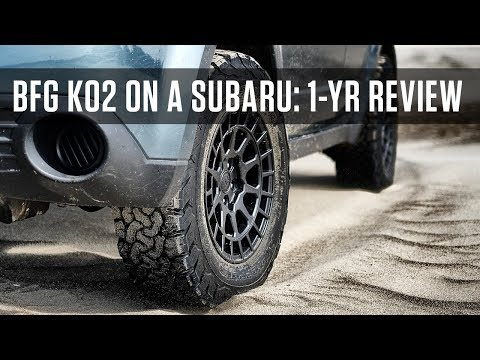 What's it like running all-terrain tires on a Subaru?