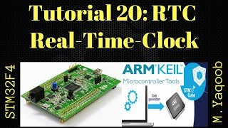 STM32F4 Discovery board - Keil 5 IDE with CubeMX: Tutorial 20 - Real Time Clock (RTC)
